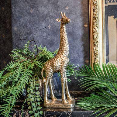 Gold Giraffe Statue