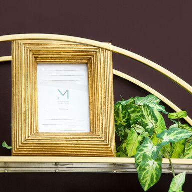 """Gold Detailed Photo Frame, 4x6"""""""