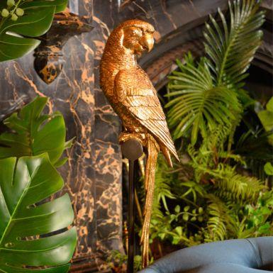 Gold Parrot Statue