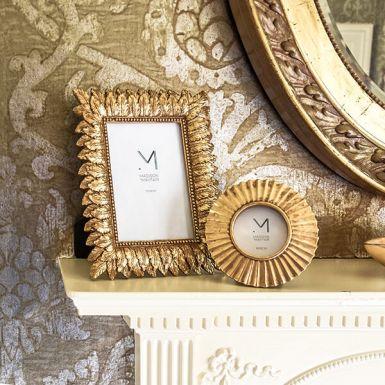 """Gold Leaf Design Photo Frame, 4x6"""""""