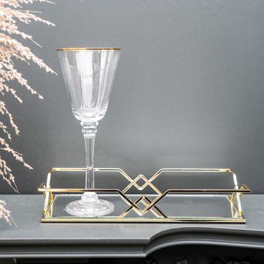Gold Geometric Drinks Tray