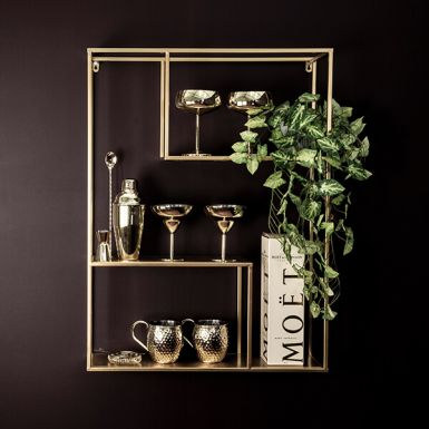 Gold Wall Shelf