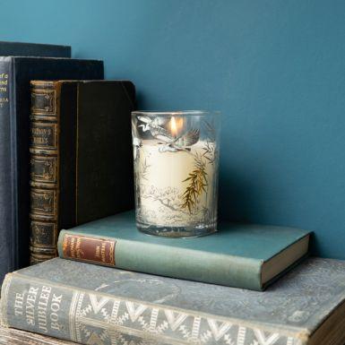 Evening Mist Heron Design Candle