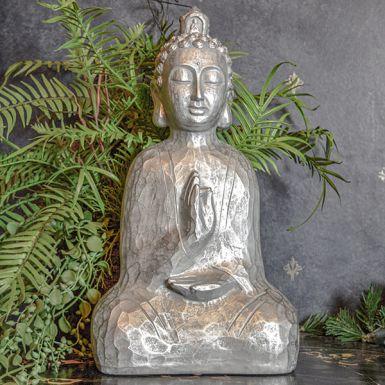 Silver Sitting Buddha