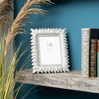 "Silver Leaf Design Photo Frame, 4x6"""
