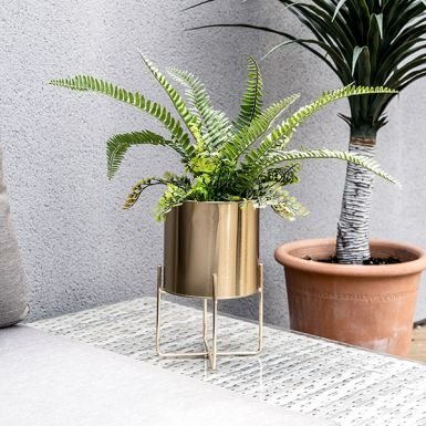 Gold Planter with Stand