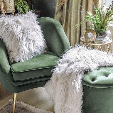 Green Kensington Velvet Chair