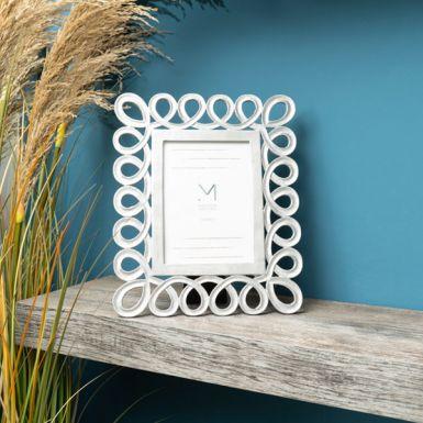 Silver Spiral Photo Frame, 5x7